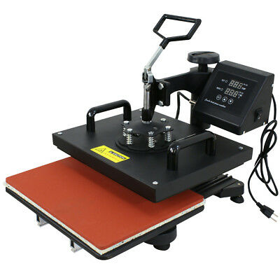6 In 1 Combo Heat Press T-Shirt Hat Cap Mug Digital Transfer Sublimation Machine