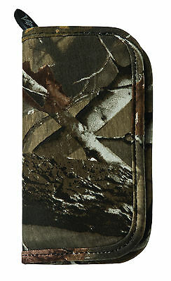 Casemaster Deluxe RealTree Camo Camouflage Nylon dart case for flights shaft tip