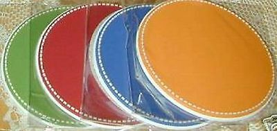 Longaberger COASTER SET - Set of 4 - SUNNY DAY - Bright Colors - NEW - In or Out