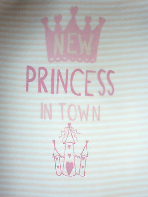 Really Sweet PRINCESS in Town Pink Sleepsuit...So Cute!! NWT