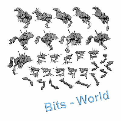WARHAMMER BITS: HIGH ELVES DRAGON PRINCES - HORSES with ARMOR 5x
