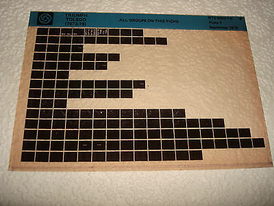 Triumph Toledo (1973-76) Parts Microfiche Full Set Of 1 - Dated September 1978