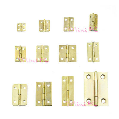 10/50/100pcs Cabinet 12mm-50mm Door Furniture Butt Hinge Brass Iron Ball Bearing