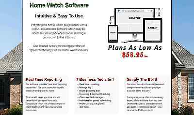 Cloud Based Home Watch Software - Manage or Start A Home Watch Business