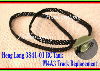 HENG LONG 1/30 3841-01 M4A3 Tank Accessory Replacement Plastic Track x 1 PAIR