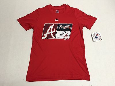 Atlanta Braves Official Genuine Baseball MLB Majestic Athletic T-Shirt Polyester