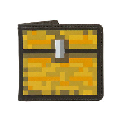 Official Minecraft Chest Wallet New Genuine & Licensed FREE UK P&P