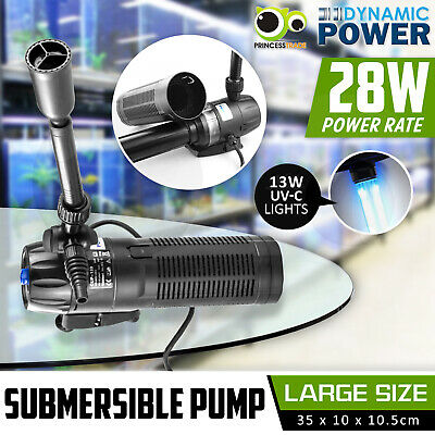 Aqua Aquarium Filter Pump Submersible UV Fountain Pond Water Pump 9000L