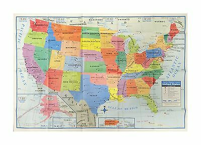 "United States US Wall Map - 40"" x 28"" USA Large Poster Size - Home School Office"