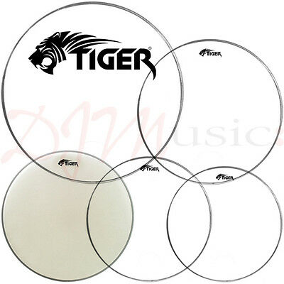 Tiger Rock Drum Heads Pack 12, 13, 16 & 22 with 14 Snare