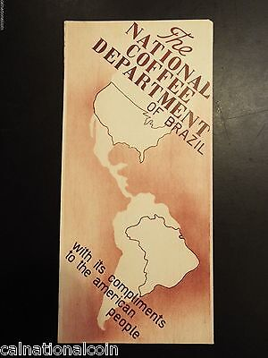 1939 The National Coffee Department of Brazil Brochure
