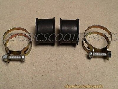 BMW R51 R71 carburetor intake rubber rubbers clamps (2) BM4071