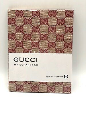 """New & Sealed! 2018 Baila  GUCCI Notebook """"MY SCRAPBOOK"""" Limited Edition"""