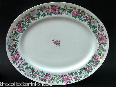 Vintage Crown Staffordshire Thousand Flowers Lg Oval Serving Platter 40cm in VGC