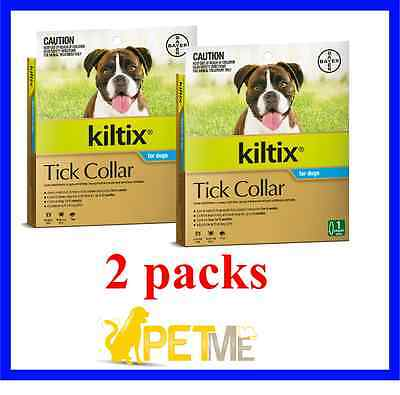 2 x Kiltix Tick AND Flea Collar for dogs by Bayer