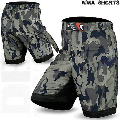 MMA Fight Shorts Grappling Kick Muay Thai Boxing UFC Cage Fighting Short Camo