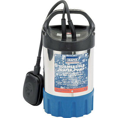 Draper Stainless Submersible Clean Water Pump 6 Metre Lift 7200 Litres Hour 240v