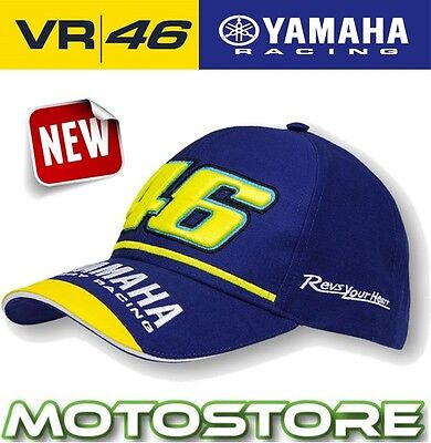 Vr46 Valentino Rossi Cap Official Hat Genuine Yamaha Racing Dual Blue M1