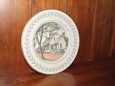 Williamsburg Reproductions Raleigh Tavern Dinner Plate Virginia By Atlas RARE