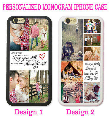 CUSTOM PHOTO COLLAGE COUPLE LOVE YOU ALWAYS PHONE Case For iPhone XR XS X 8 7 6S