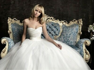 NEW Tulle White/Ivory Wedding Dress Bridal Gown Custom Size 4 6 8 10 12 14 16 18