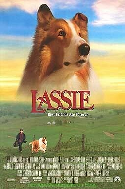 LASSIE MOVIE POSTER Original One Sheet 27x40 GREAT LOOKING COLLIE DOG !!!