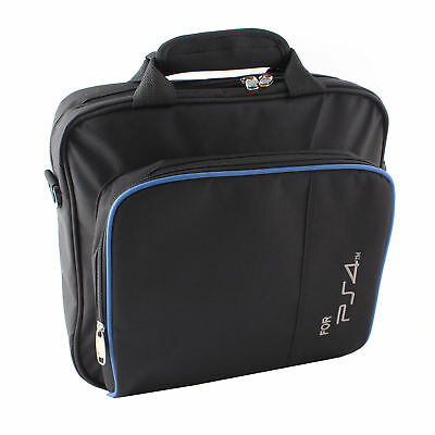 Black Travel Carry Protective Shoulder Bag For Sony PlayStation 4 PS4