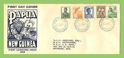 Papua New Guinea 1952 5 definitives on illustrated First Day Cover
