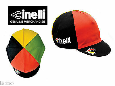 Cinelli Italo 79 Cotton Bike Cycling Cap Black Vintage Fixed Gear -Made in Italy