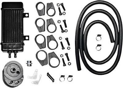 Jagg WideLine 10-Row Vertical Frame Mount Oil Cooler for Harley (750-2000)