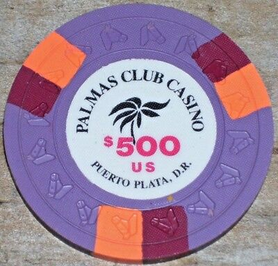 $500 Casino Chip From Palmas Club Casino, Puerto Plata