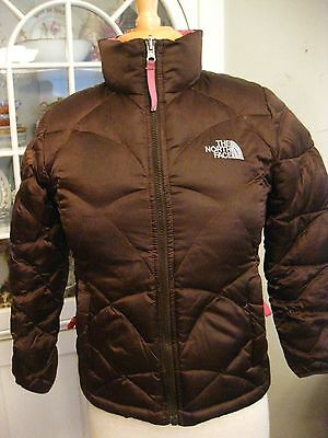 THE NORTH FACE brown puffer 550 fill goose down jacket girl's M