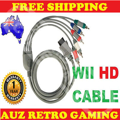 HDTV Component HD TV GOLD AV Cable Video 480p for Nintendo Wii Wii U
