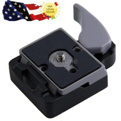 Camera Tripod Head Quick Release Plate QR Clamp Adapter for Manfrotto 200PL-14