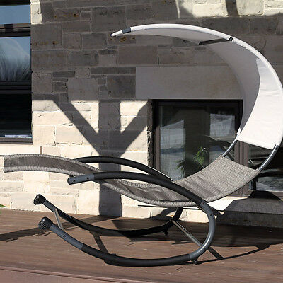 Vivere Double Orbital Lounger with Canopy stylish modern New
