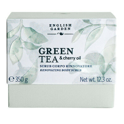 Atkinsons English Garden Green Tea & Cherry Oil Scrub Corpo Rinnovatore 350 Gr