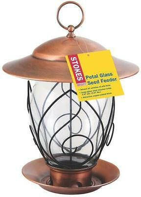 Hiatt 38277 Stokes Petal Glass 3.67 Lb Wild Bird Feeder Copper Coated 3027349