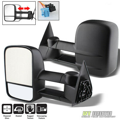 LEFT+RIGHT 03-07 Silverado Tahoe Sierra Telescoping Power+Heated Tow Side Mirror