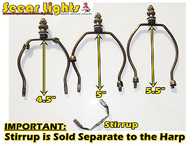 Harp Shade Carrier Gimble Holder For Tiffany Lamp Base Light Shade Antique Style