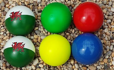4 Lacquered Coches with 2 Flag Coches for Petanque/Boules 9 sets to choose from