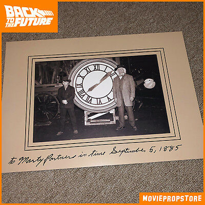 BACK TO THE FUTURE Movie Prop - Doc and Marty in front of the Clock-Tower 1885