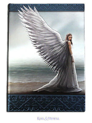 "Anne Stokes Embossed Journal Notebook: ""Spirit Guide"" Guardian Angel on Beach"
