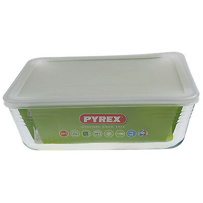 Pyrex Cook & Store 4L Classic Rectangular Glass Baking Dish With Plastic Lid New