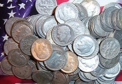 LOT of  20 CIRCULATED 10 C - ROOSEVELT DIMES   90% SILVER