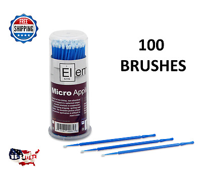 100 Micro Applicator Microapplicators Microbrush Dental - MEDIUM / BLUE EHROS