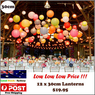 Paper Lanterns for Wedding Party Festival Decoration - 12 x 30cm  Lantern pack