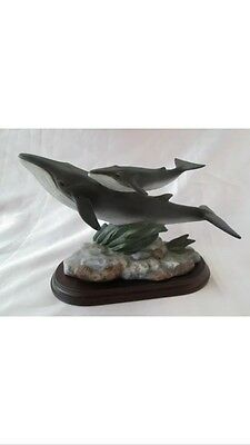 Home Interior Masterpiece Fin Whales 1995 #1163 Endagered Species