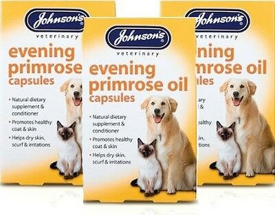 Johnsons Evening primrose oil capsules,Supplement & Conditioner for Dogs & Cats
