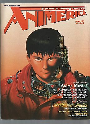 AKIRA Shiro Sasaki! ANIMERICA August 1994 Vol 2 #8 Area 88! The Return of LUM!