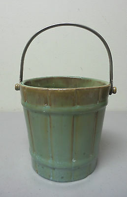 ANTIQUE FULPER ARTS & CRAFTS ART POTTERY ICE BUCKET,BAIL HANDLE, c.1922-1928